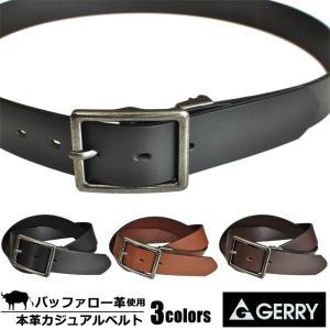 GERRY ベルト ジェリー ブランド メンズ レディース 本革 カジュアル ジーンズ おしゃれ 35mm|moncrest