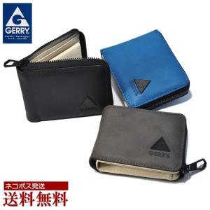 財布 メンズ 短財布 ブランド GERRY アウトドア/二つ折り/L字 ラウンドファスナー|moncrest