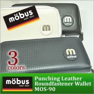 財布 メンズ 長財布 ラウンドファスナー ブランド mobus モーブス パンチングレザー MOS-90/|moncrest