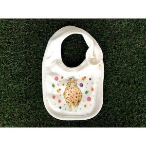 オーガニックコットン キラキラひつじ モンゴベス スタイ赤ちゃん用よだれかけ bib 動物柄 鳥 出産祝い お誕生日 プレゼント ラッピング無料  MONGOBESS|mongobesswith