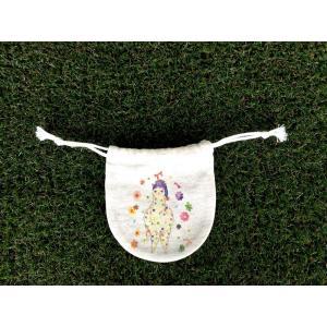 まるっ子巾着(小) 眠りアルパカ モンゴベス 日本製 巾着袋 アクセサリー袋 小物入れ ミニポーチ アルパカ MONGOBESS|mongobesswith
