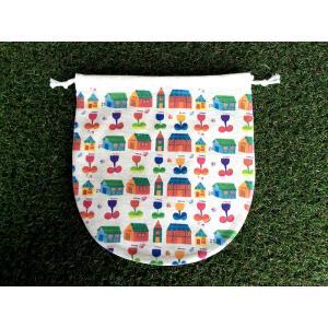 巾着(大) チューリップハウス モンゴベス 日本製 弁当袋 巾着袋 巾着バッグ ポーチ 通園 通学 MONGOBESS|mongobesswith
