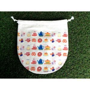 巾着(大) スイーツキッチン モンゴベス 日本製 弁当袋 巾着袋 巾着バッグ ポーチ 通園 通学 MONGOBESS|mongobesswith