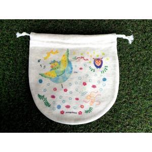 巾着(大) インコリーナ モンゴベス 日本製 弁当袋 巾着袋 巾着バッグ ポーチ 通園 通学 MONGOBESS|mongobesswith