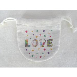 まるころ巾着(小) LOVE モンゴベス 日本製 巾着袋 アクセサリー袋 小物入れ ミニポーチ ロゴ バレンタイデー ホワイトデー MONGOBESS|mongobesswith