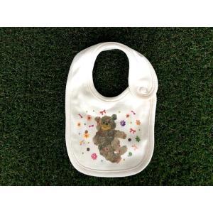 オーガニックコットン モンゴくま モンゴベス スタイ 赤ちゃん用よだれかけ bib 動物柄 クマ 出産祝い お誕生日 プレゼント ラッピング無料 MONGOBESS|mongobesswith