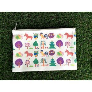 ペンケース アニマルxツリー モンゴベス 日本製 化粧ポーチ 小物入れ カード入れ MONGOBESS|mongobesswith