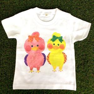 キッズTシャツ ピヨコ2 モンゴベス ベビーキッズ 子供服 プリントTシャツ 半袖 動物柄 MONGOBESS mongobesswith