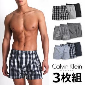【お得な3枚組セット】カルバンクライン トランクス ボクサートランクス Calvin Klein CK Classic Fit Woven Boxers メンズ 男性下着 メンズ下着 monkey