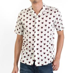 DIESEL ディーゼル 半袖 シャツ プリントシャツ S-TIGG キャットフェイス コットン メンズ 男性|monkey