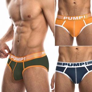 PUMP パンプ ローライズ ブリーフ ビキニ RIBBED BRIEF PUMP! Underwear 男性下着 メンズ 下着 フィットネス 筋トレ|monkey