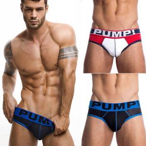 PUMP パンプ ローライズブリーフ TOUCHDOWN PUMP! Underwear 男性下着 メンズ 下着 フィットネス 筋トレ monkey