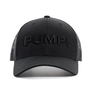 PUMP パンプ メンズ キャップ 帽子 ALL BLACK BALL CAP メッシュバック PUMP! Underwear|monkey