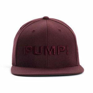 PUMP パンプ メンズ キャップ 帽子 ALL BURGUNDY SNAPBACK CAP PUMP! Underwear|monkey