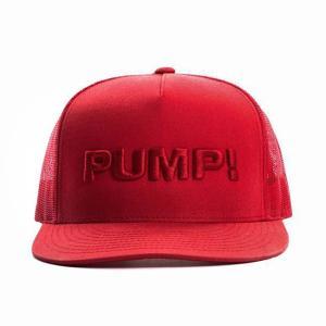 PUMP パンプ メンズ キャップ 帽子 ALL RED BALL CAP メッシュバック PUMP! Underwear|monkey