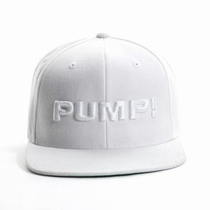 PUMP パンプ メンズ キャップ 帽子 ALL WHITE SNAPBACK CAP PUMP! Underwear|monkey