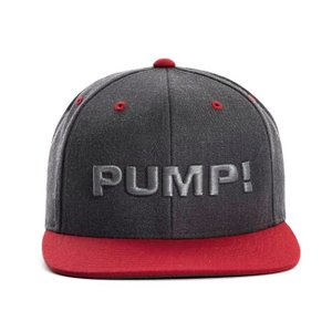 PUMP パンプ メンズ キャップ 帽子 CHARCOAL AND RED SNAPBACK CAP PUMP! Underwear|monkey