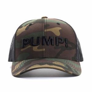 PUMP パンプ メンズ キャップ 帽子 MILITARY 迷彩 CAMO BALL CAP メッシュバック PUMP! Underwear|monkey