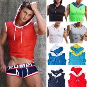 PUMP パンプ スリーブレス パーカー タンクトップ トレーニングウェア トップス PUMP! Underwear メンズ フィットネス 筋トレ|monkey