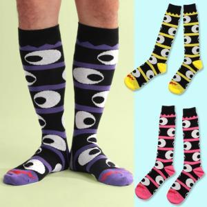 ネコポス送料無料 SOCK HOLIC ハイソックス・靴下 LONG SOCKS インベーダー (男性 メンズ 23-25cm 25-27cm 27-29cm 大きいサイズ 小さいサイズ )|monkey