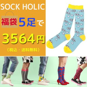 SOCK HOLIC ソックス・靴下 5足セット福袋 男性 メンズ 23-25cm 25-27cm 27-29cm 大きいサイズ 小さいサイズ|monkey