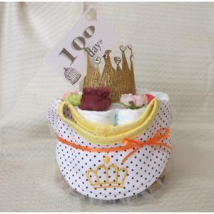 NEW!!!出産祝い**キラキラクラウンおむつケーキ**クラスックスタイル・男の子・女の子・オムツケーキ・出産祝い・パンパース|monkeypanda333