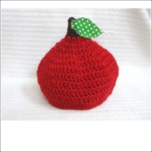 新生児用♪ベビー ニット帽 『りんご帽子』★どんぐり帽子  男の子 女の子 ハンドメイド|monkeypanda333