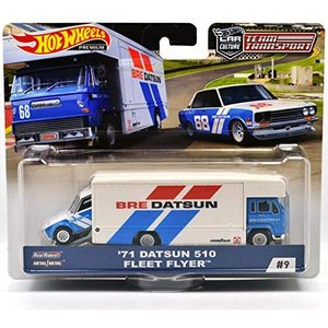 HOT WHEELS ミニカー Team Transport '71 DATSUN 510 FLEE...