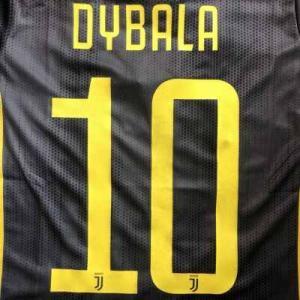 子供用 K116 ユベントス DYBALA*10 ディバラ 黒黄 19 ゲームシャツ パンツ付 キッ...