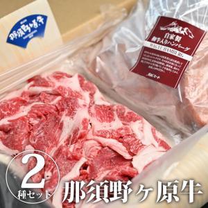 【送料無料】那須野ヶ原牛切り落とし&自家製ハンバーグ 肉 牛肉 和牛入りハンバーグ ビーフ 和牛 詰め合わせ セット monmiya
