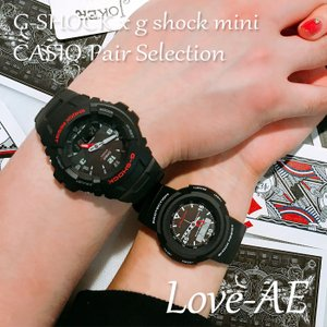 CASIO ジーショック 腕時計 ペアセレクション LOVE-AE G-SHOCK g-shock mini G-100-1BMJF GMN-500-1BJR ペアウォッチ/ギフト/記念日/誕生日/クリスマス/カップル|mono-b