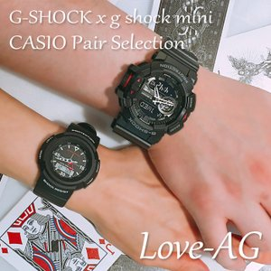 CASIO ジーショック 腕時計 ペアセレクション LOVE-AG G-SHOCK g-shock mini GA-400-1BJF GMN-500-1BJR ペアウォッチ/ギフト/記念日/誕生日/クリスマス/カップル|mono-b