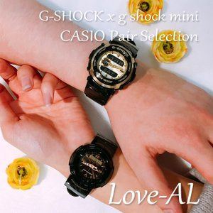 CASIO ジーショック 腕時計 ペアセレクション LOVE-AL G-SHOCK g-shock mini G-300G-9AJF GMN-500G-1BJR ペアウォッチ/ギフト/誕生日/クリスマス/カップル|mono-b