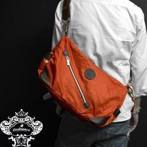 Orobianco オロビアンコ バッグ SILVESTRA DOUBLE アランチョ/マロン オレンジ/ナイロン/レザー/イタリア製/ビジネス/ショルダーバッグ mono-b