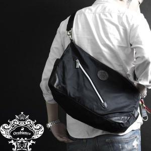 Orobianco オロビアンコ バッグ SILVESTRA DOUBLE クロ/モロ ブラック/ナイロン/レザー/イタリア製/ビジネス/ショルダーバッグ mono-b