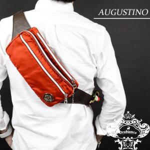 Orobianco オロビアンコ バッグ AUGUSTINO オーガスティーノ アランチョ/マロン ナイロン/レザー/イタリア製/ボディバッグ/ショルダーバッグ mono-b