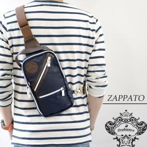 Orobianco オロビアンコ バッグ ZAPPATO-A ザッパート ブルー/マロン ネイビー/ナイロン/レザー/イタリア製/ボディバッグ/ショルダーバッグ/ワンショルダー mono-b