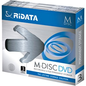 RiDATA M-DISC DVD 4.7GB 4倍速 3枚パック M-DVD4.7GB.PW3P