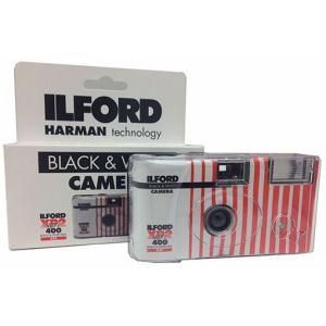 ILFORD 白黒レンズ付きカメラ 27枚フラッシュ付き XP2SUPER400 C41処理