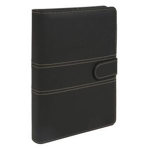 A5 定番ステッチ柄  ビジネス手帳 ブラック スターターセット