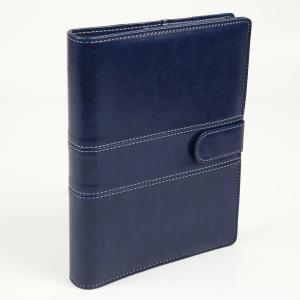 A5 定番ステッチ柄  ビジネス手帳 ネイビーブルー スターターセット