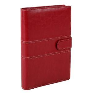 A5 定番ステッチ柄  ビジネス手帳 カーディナルレッド スターターセット
