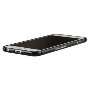 iPhone6s/6 ケース クリスタルアーマー METAL BUMPER ALL BLACK|monocase-store