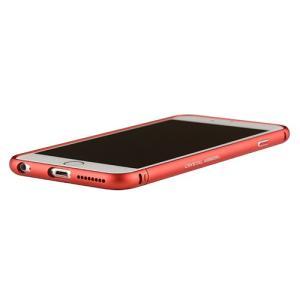 iPhone6s Plus/6 Plus ケース クリスタルアーマー METAL BUMPER METAL RED|monocase-store