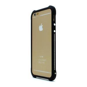 iPhone6s/6 ケース Ferr Aluminum Bumper スワロフスキーアルミバンパー ブラック|monocase-store