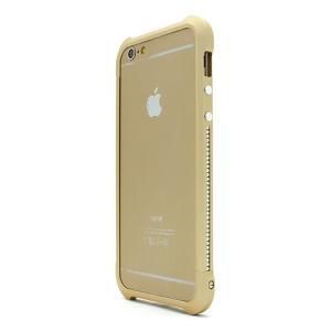 iPhone6s/6 ケース Ferr Aluminum Bumper スワロフスキーアルミバンパー シャンパンゴールド|monocase-store