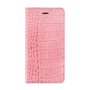 iPhone6s Plus/6 Plus ケース Vivid Croco Diary ピンク|monocase-store