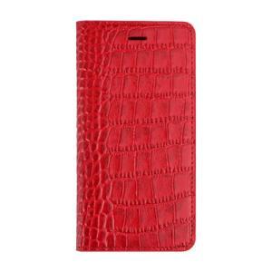 iPhone6s Plus/6 Plus ケース Vivid Croco Diary レッド|monocase-store