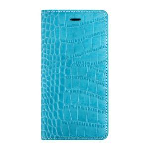iPhone6s Plus/6 Plus ケース Vivid Croco Diary コーラルブルー|monocase-store