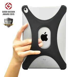 iPad Air/Air2/Pro 9.7 ケース パルモ 落下防止 軽量 高品質シリコン 耐衝撃 吸収 片手操作 Palmo Black|monocase-store